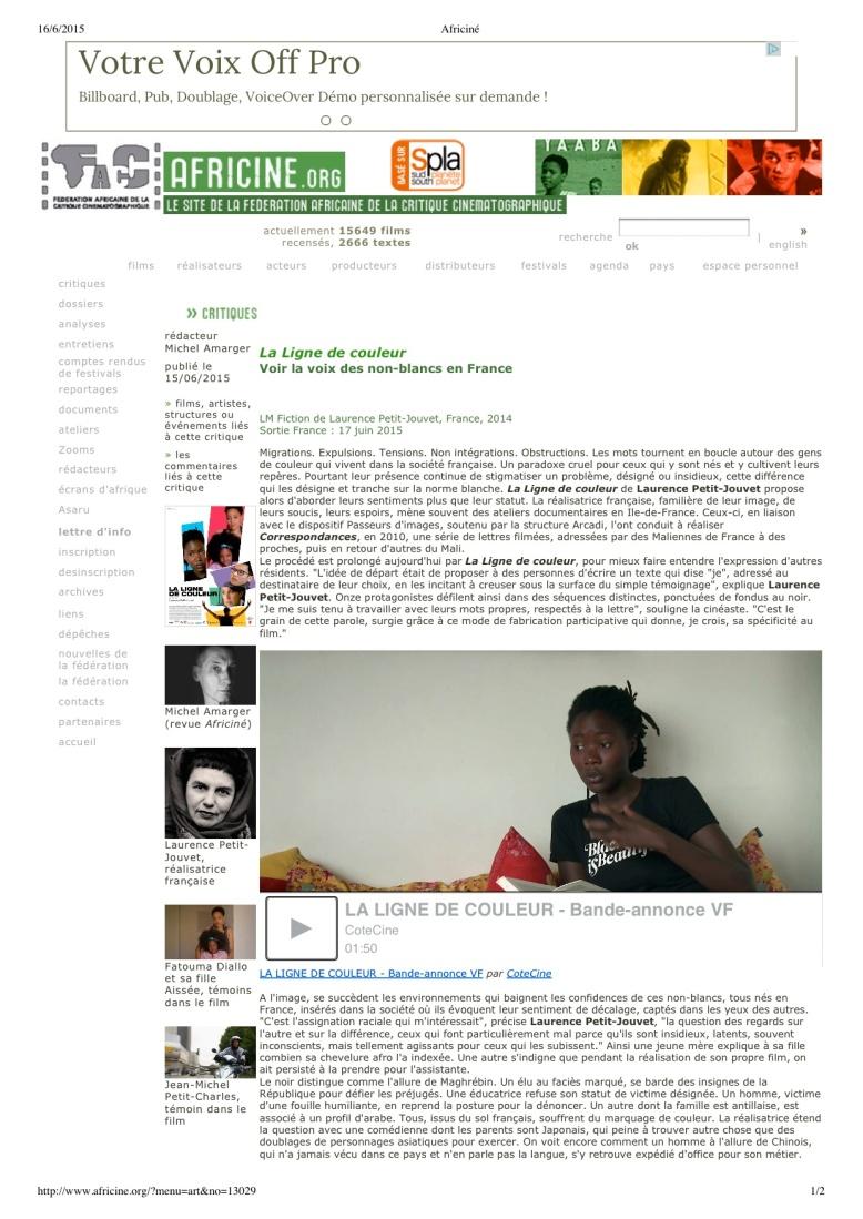lalignedecouleur.com Africiné
